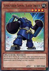 Superstarker Samurai Blauer Streiter