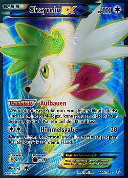 Shaymin EX Drachenleuchten Boosterserien Einzelkarten ... Rare Pokemon Cards Black And White