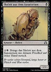 Skelett aus dem Sanatorium
