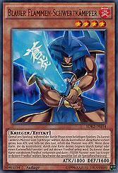 Blauer Flammen-Schwertkämpfer