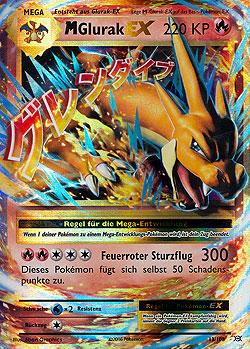 Pokemon Karten Mega Glurak Ex.M Glurak Ex Flammenmeer Boosterserien Einzelkarten Pokemon