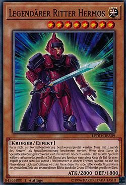 Ultra Rare Auflage Deutsch Yu-Gi-Oh Legend/ärer Ritter Hermos 1 DRL3-DE062