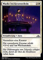 Wache bei Kerzenschein