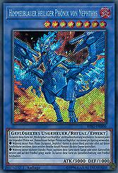 Himmelblauer heiliger Phönix von Nephthys