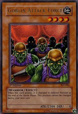 Goblin Attack Force Pharaoh's Servant Boosterserien Yugi