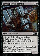 Eingesperrter Zombie