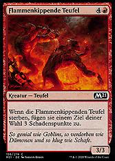 Flammenkippende Teufel