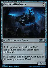 Grabschrift-Golem