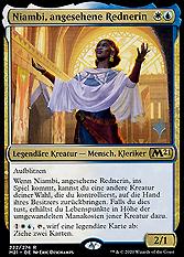Niambi, angesehene Rednerin