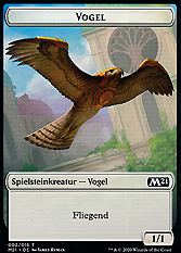 Vogel Spielmarke