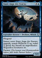Siani, Auge des Sturms