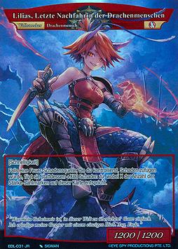 Lilias, Letzte Nachfahrin der Drachenmenschen