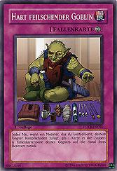Hart feilschender Goblin