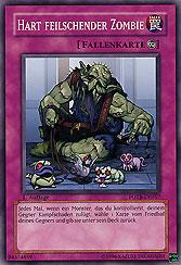 Hart feilschender Zombie