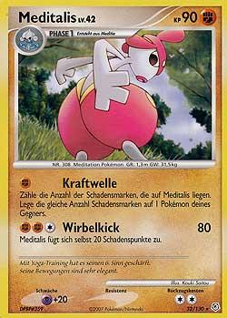 Pokemon einzelkarten boosterserien diamant perl meditalis mawo cards - Pokemon rare diamant ...